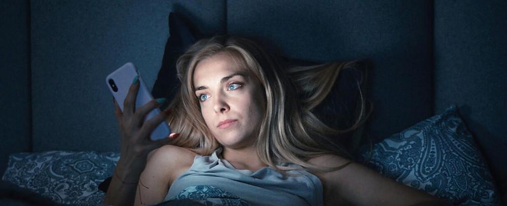 Magdalene Kolesnik als fitness-influencer Sylwia in 'Sweat'.