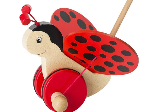 Push-along ladybird