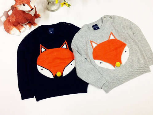 Double Layer Fox Knit Jumper