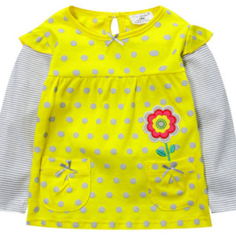 polkadot flower embroidered top