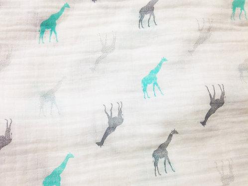 Giraffe Print Organic Muslins