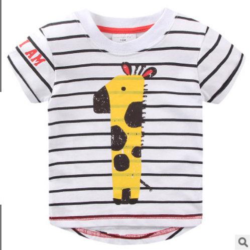 Stripe Giraffe Print T-shirt