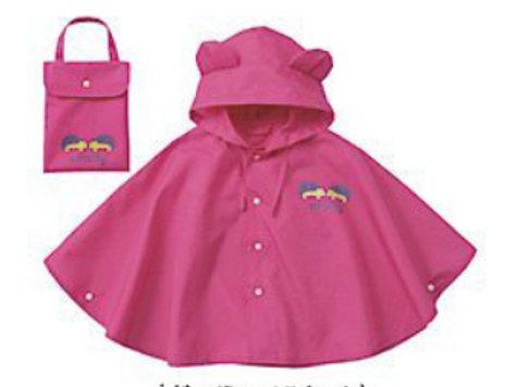 Children Rain Poncho-Pink