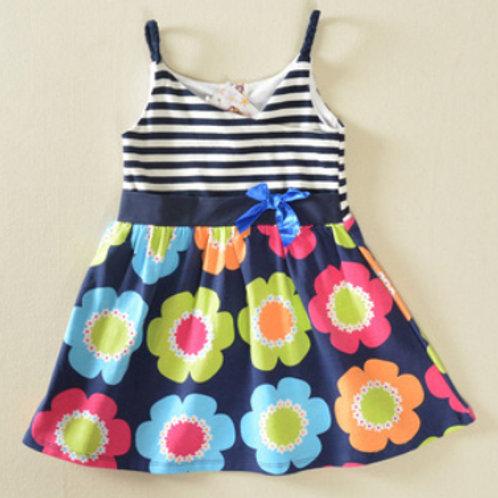 Straps Floral Dress