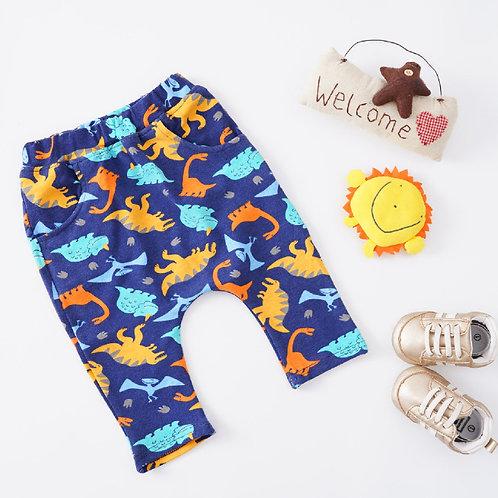 Blue Dino Print Trousers