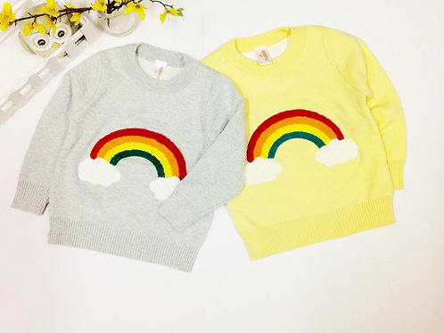 Double Layer Rainbow Knit Jumper