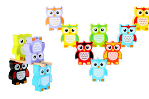 Wooden Stacking Owls