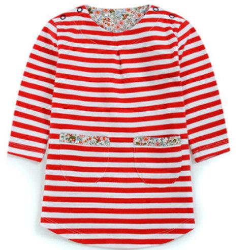Girl's Stripe & Floral Dress