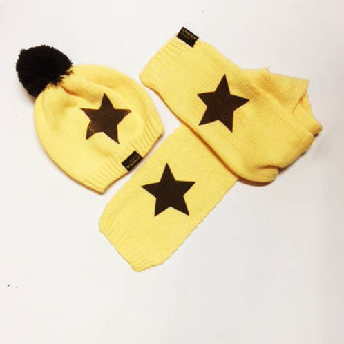 Knitted Star Hat & Scarf Set