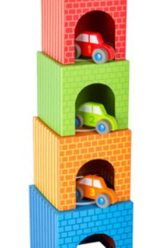 Wooden Stacking Cubes Vehicles