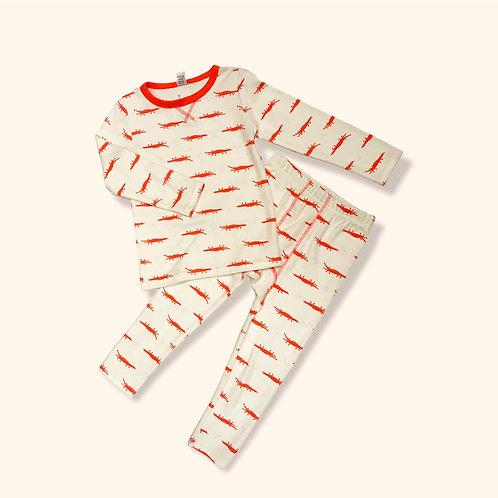 Crocodile Print Cotton Pyjamas