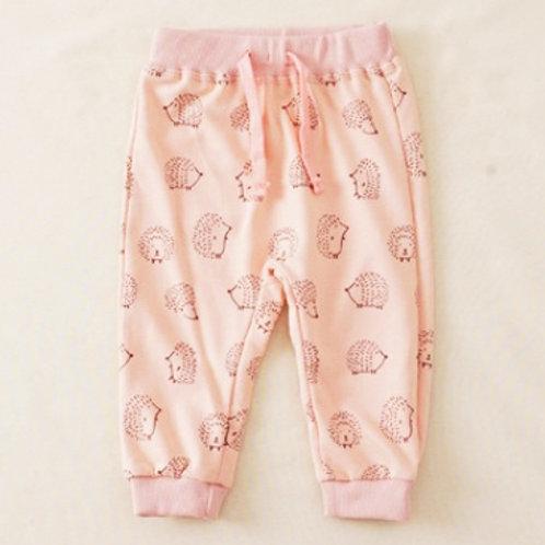 Pink  Hedgehog Print Joggers