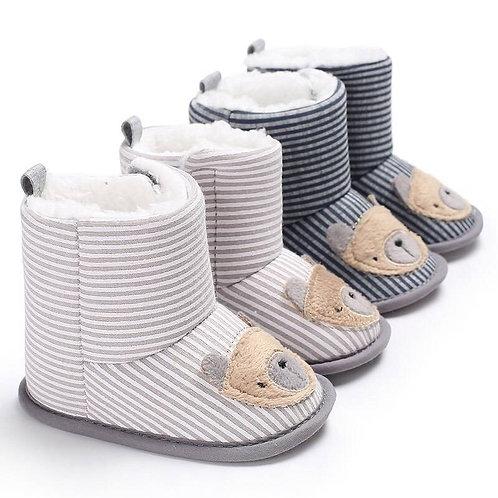 Stripe Bear  Booties