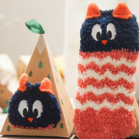 2-Pack Animal Cotton Socks(Owl+Dog)