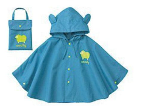 Children Rain Poncho-Blue