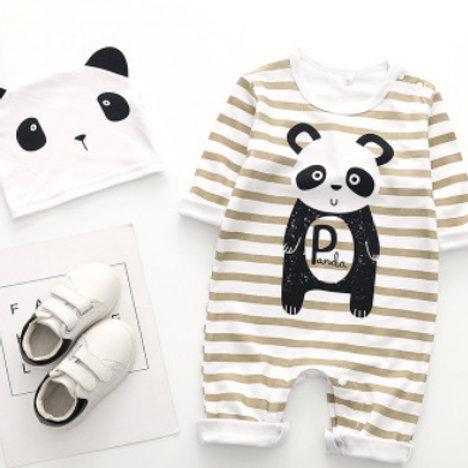 2-Piece Animal Outfit & Hat Set(zebra,panda)