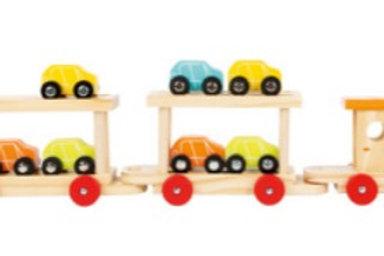 Wooden Motorail Train