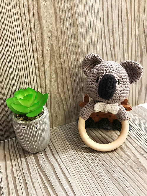 Koala Wooden Ring Rattle