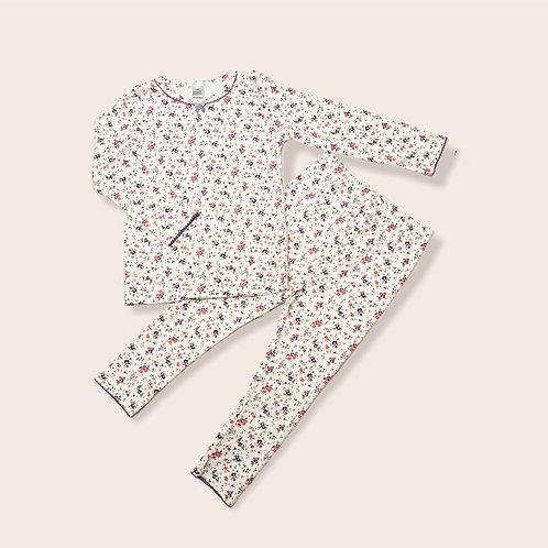 Flower Print Cotton Pajamas