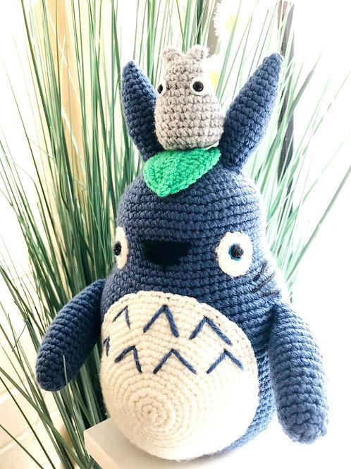 Blue Totoro With Mini Totoro Set