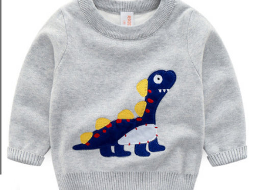 Double Layer Dino Knit Jumper