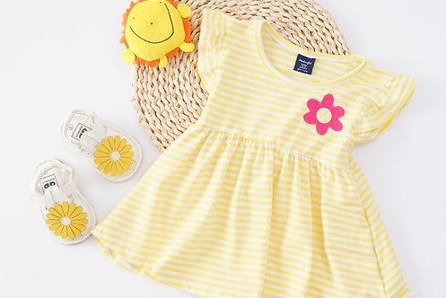 Essential Summer Dress-Yellow Stripe