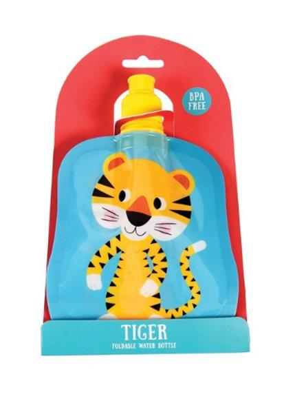 Folding Water Bottle-Tiger