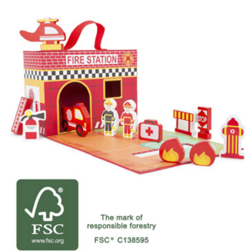 Fire Brigade Themed Play Set
