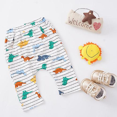 Stripe Dino Print Trousers