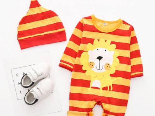 2-Piece Animal Outfit &Hat Set(lion,tiger)