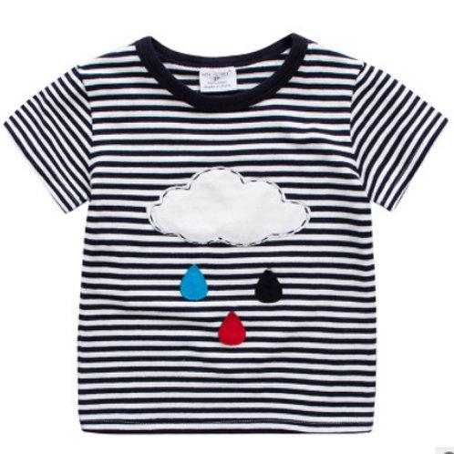 Raindrop embroidered T-Shirt