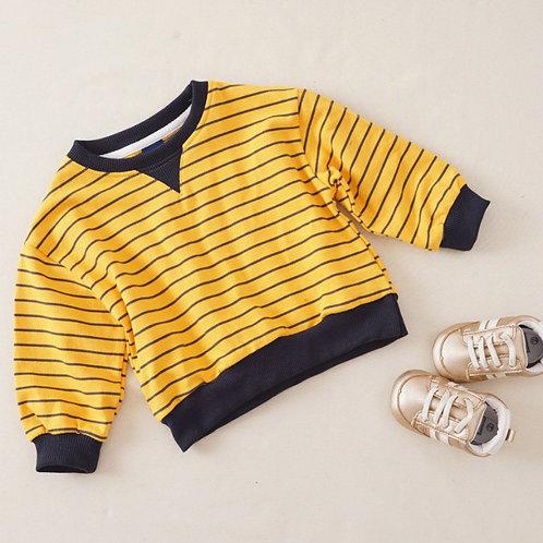 Stripes Sweatshirt(mustard)