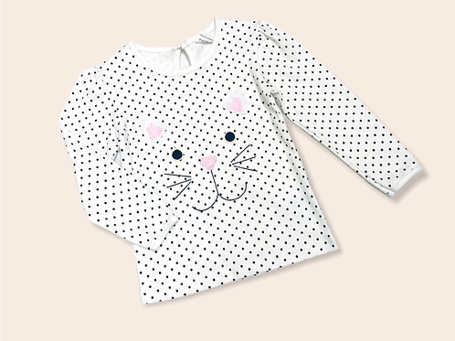 Bunny Embroidered Top