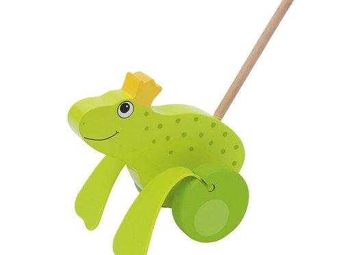 Push-along Frog King