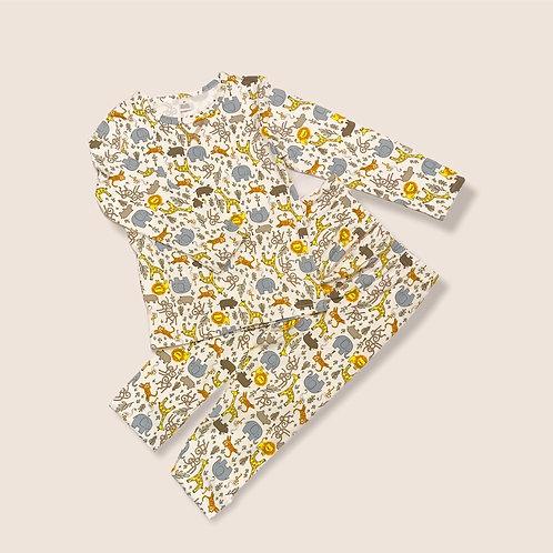 Safari Print Cotton Pyjamas