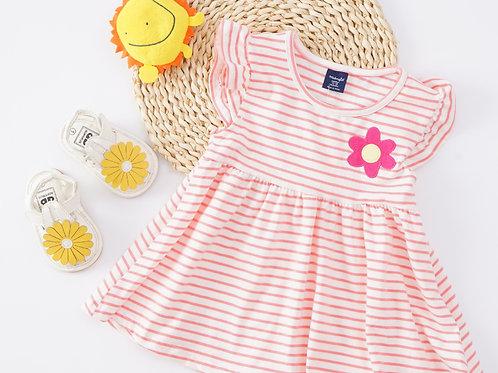 Essential Summer Dress-Pink Stripe