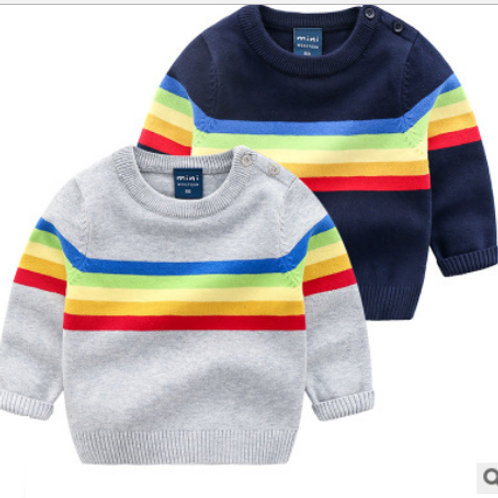 Rainbow Stripe Knit Jumper