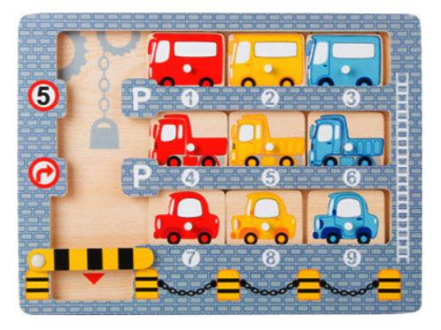 Wooden Car Park Puzzle