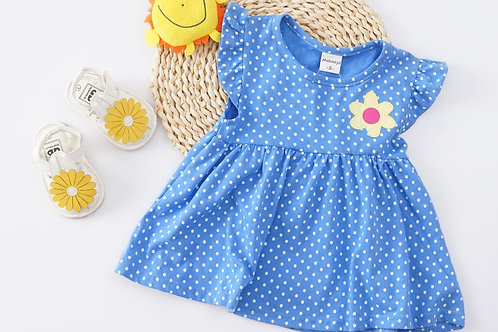 Essential Summer Dress-Blue Polkadot