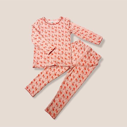 Flamingo Print Cotton Pajamas