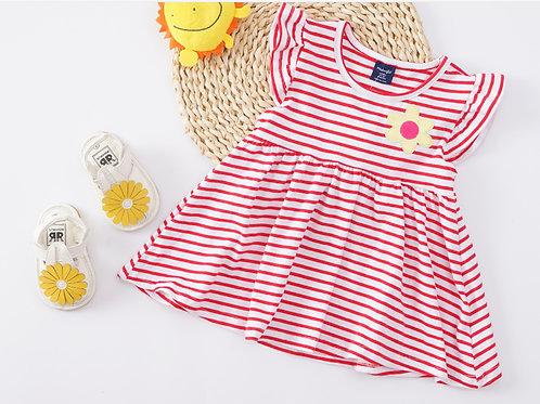 Essential Summer Dress-Red Stripe