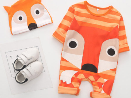 2-Piece Animal Outfit &Hat Set(Fox,Cat,Dog)