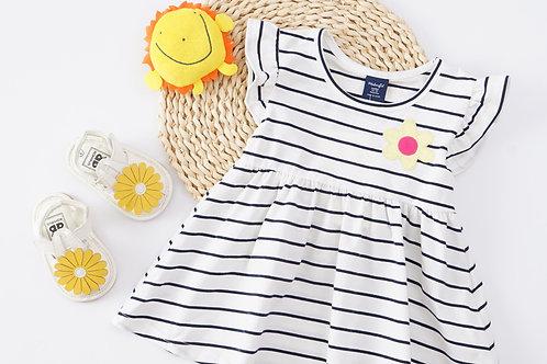 Essential Summer Dress-White Stripe
