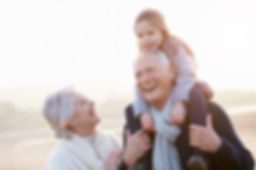 Grandparents and grandkids with healthy smiles