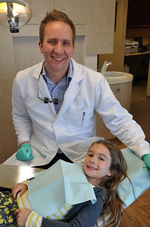 Dr Patrick Reilly and pediatric patient