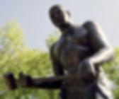 Statue of John Henry, near Big Bend Tunnel, in West Virginia