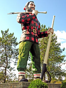 Paul Bunyan Statue in Bangor, Maine image from Wikipedia
