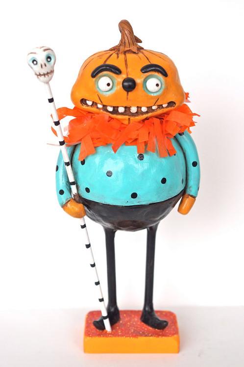 HALLOWEEN pumpkin man Folk Art Sculpture