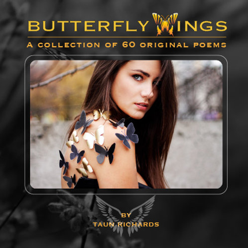 Butterfly wings Paperback book (Free Shipping)
