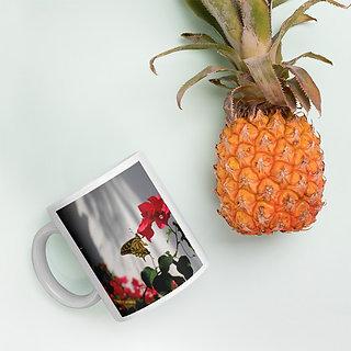 Custom 110z Ceramic White Coffee Mug printed  x 4